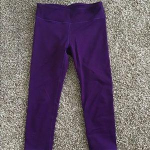 Purple workout crops.